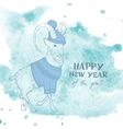 Chinese New Year of The Goat 2015 vector image