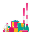 cleaning set isolate flat design vector image