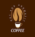 coffee logo on brown vector image