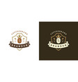 coffee shop logo template vector image