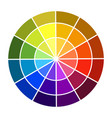 colour wheel shadow and light color base colors vector image