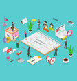 customer journey map isometric flat concept vector image vector image