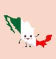 cute funny smiling happy mexico map vector image vector image