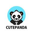 cute panda cartoon logo icon vector image vector image