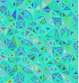 Cyan triangle mosaic tile background vector image vector image