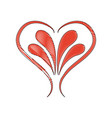 decorated ornament romantic leaves design image vector image
