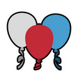 decorative balloon isolated vector image