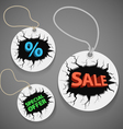 Discount shopping tags set vector image vector image