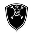 extreme skull emblem icon vector image