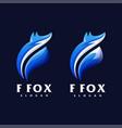 f fox logo set vector image