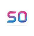 fiftieth anniversary celebration number 50 vector image vector image