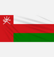 flag oman swaying in the wind realistic vector image