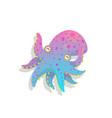 funny baoctopus kids aquatic character cartoon vector image vector image