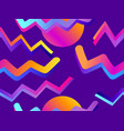 futurism seamless pattern gradient shape in the vector image vector image
