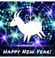 Goat Paper Applique on Glowing Bright Background vector image vector image