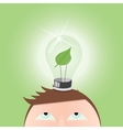 Green Light Bulb vector image vector image