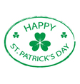 Happy St Patricks Day stamp style 1 vector image vector image