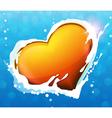 Heart in water vector image vector image