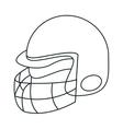 Helmet of american football sport design vector image vector image