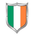 Ireland flag button vector image