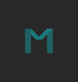 M logo letter blue thin many lines minimal vector image vector image