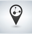 map pointer logo with share connection in vector image vector image