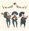 mariachi band plays musical instruments vector image vector image