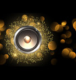 music background with speaker and music notes vector image vector image