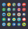 network and communication flat icons set vector image vector image