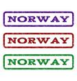 norway watermark stamp vector image