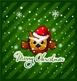 owl with a wish of Merry Christmas vector image
