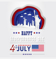 papercut united states america 4 th july vector image vector image