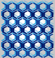 Pattern Blue Line vector image vector image