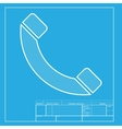 Phone sign White section of icon on vector image vector image