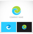 round curl ecology nature logo vector image