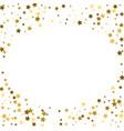 round gold frame or border of random scatter vector image vector image