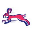 running rabbit mascot vector image vector image