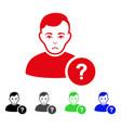 sad user question icon vector image vector image