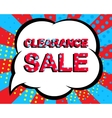 Sale poster with CLEARANCE SALE text Advertising vector image vector image