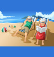 senior couple enjoying their retirement vector image vector image