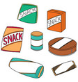 set of snack vector image vector image
