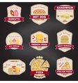 Set of vintage fast food badge banner or logo vector image vector image