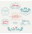 Sketched Romantic Colorful Design Elements vector image vector image