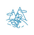 skiing linear icon concept skiing line vector image