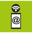 smartphone mail wifi icon vector image