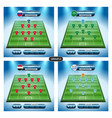 soccer team player plan group a with flags vector image vector image
