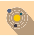 Solar system flat icon vector image vector image
