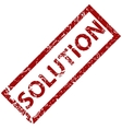 Solution rubber stamp vector image vector image