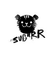 sugar slogan graphic with tiger sign vector image vector image