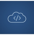 Transferring files cloud apps line icon vector image